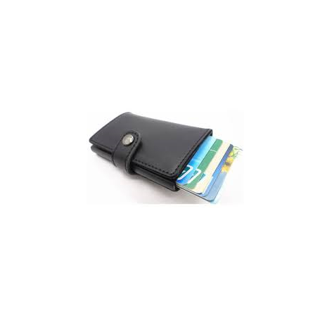 Kreditkartenetui schwarz ohne Münzfach