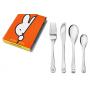 Kinderbesteck mit Gravur Miffy 4-teilig