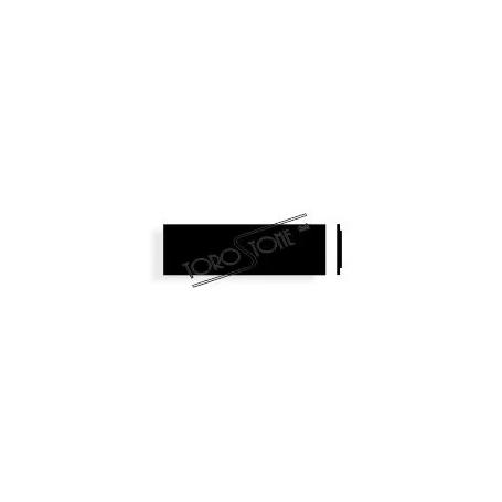 Givel 80 x 25 Alu schwarz Briefkastenschild