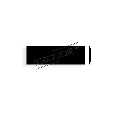 Givel 80 x 25 Formica schwarz Briefkastenschild