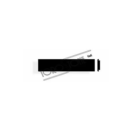 Kehrer 67 x 14,5 Alu schwarz Briefkastenschild