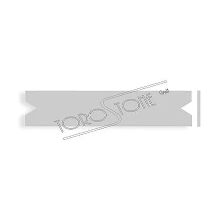 Renz 102 x 21,5 x 0,8 Briefkastenschild Kunststoff silber matt
