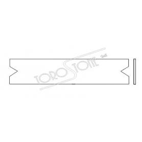 Renz 102 x 21,4 x 0,8 Briefkastenschild Kunststoff weiss
