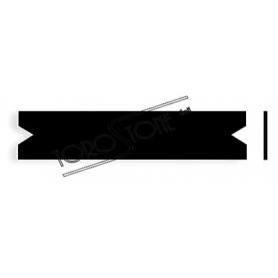 Renz 102 x 21,4 x 0,8 Briefkastenschild Kunststoff schwarz