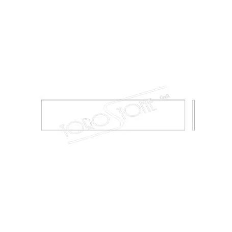 Schweizer 119 x 25 x 1,6 Kunststoff weiss Briefkastenschild