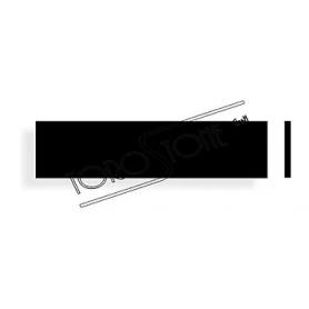 Wema Box 94 x 23 x 2,4 Kunststoff schwarz Briefkastenschild