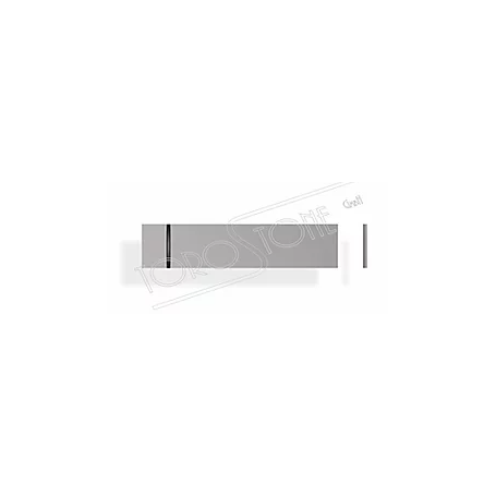 ESAG 53,5 x 12 x 0,8 Kunststoff silber Klingelschild
