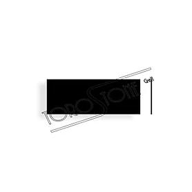 Feller 40 x 15 Kunststoff schwarz Klingelschild