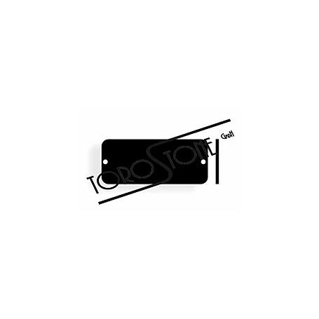 Koch 45 x 19 Alu schwarz poliert Klingelschild