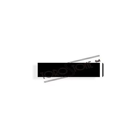 Sonnex 61 x 14 Alu Schwarz matt Klingelschild