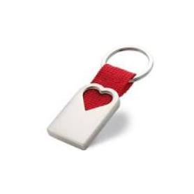 Schlüsselanhänger Herz rot