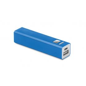 Powerbank blau mit Gravur