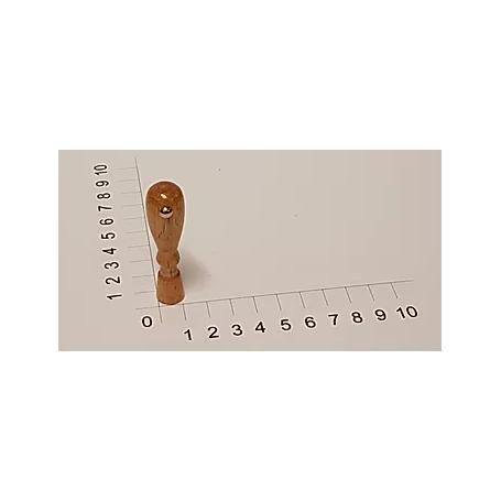 Holzstempel rund 12 mm Durchmesser