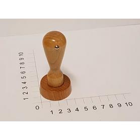 Holzstempel rund 40 mm Durchmesser