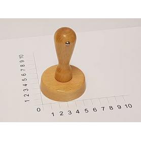 Holzstempel rund 60 mm Durchmesser