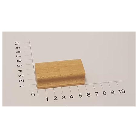"""Holzstempel """"Schulstempel"""" 30 x 60 mm"""