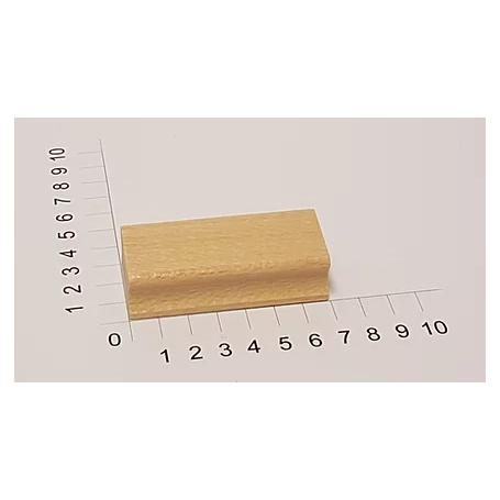 """Holzstempel """"Schulstempel"""" 30 x 70 mm"""