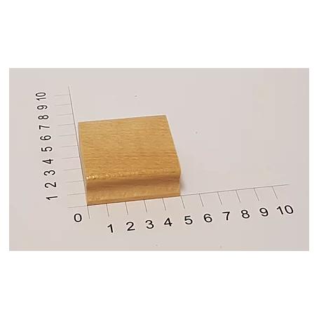 """Holzstempel """"Schulstempel"""" 50 x 50 mm"""