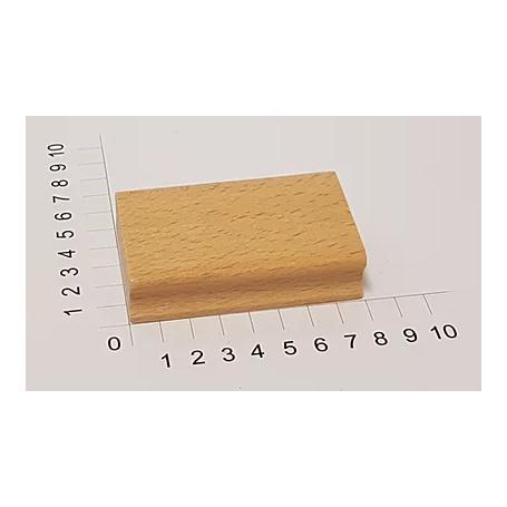 """Holzstempel """"Schulstempel"""" 50 x 80 mm"""