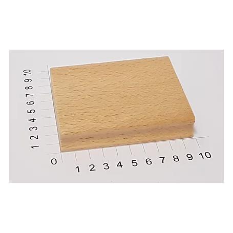 """Holzstempel """"Schulstempel"""" 80 x 100 mm"""