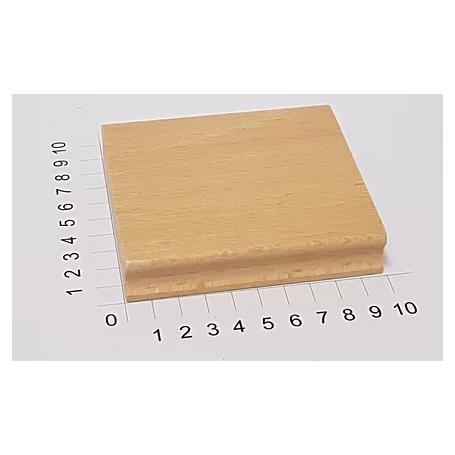 """Holzstempel """"Schulstempel"""" 90 x 100 mm"""