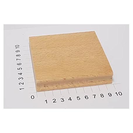 """Holzstempel """"Schulstempel"""" 100 x 100 mm"""