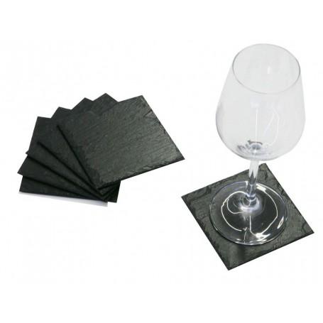 Schiefer-Untersetzer / Glasuntersetzer aus Schiefer
