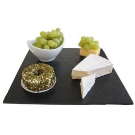 Schiefer-Servierplatte Quadrat mit gesägten Kanten