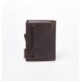 "Kreditkartenetui aus Leder braun ""vintage"""